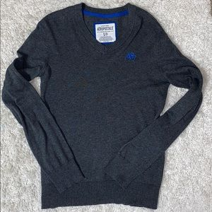EUC Aeropostale Gray V Neck Sweater